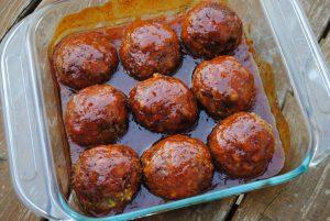 finished ham balls