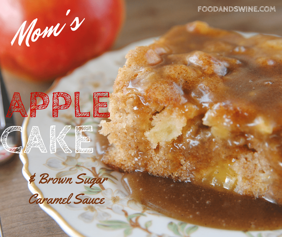 Mom S Fresh Apple Cake Food Swine