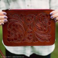FarmHer Leather Clutch