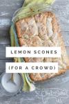 lemon scones for a crowd