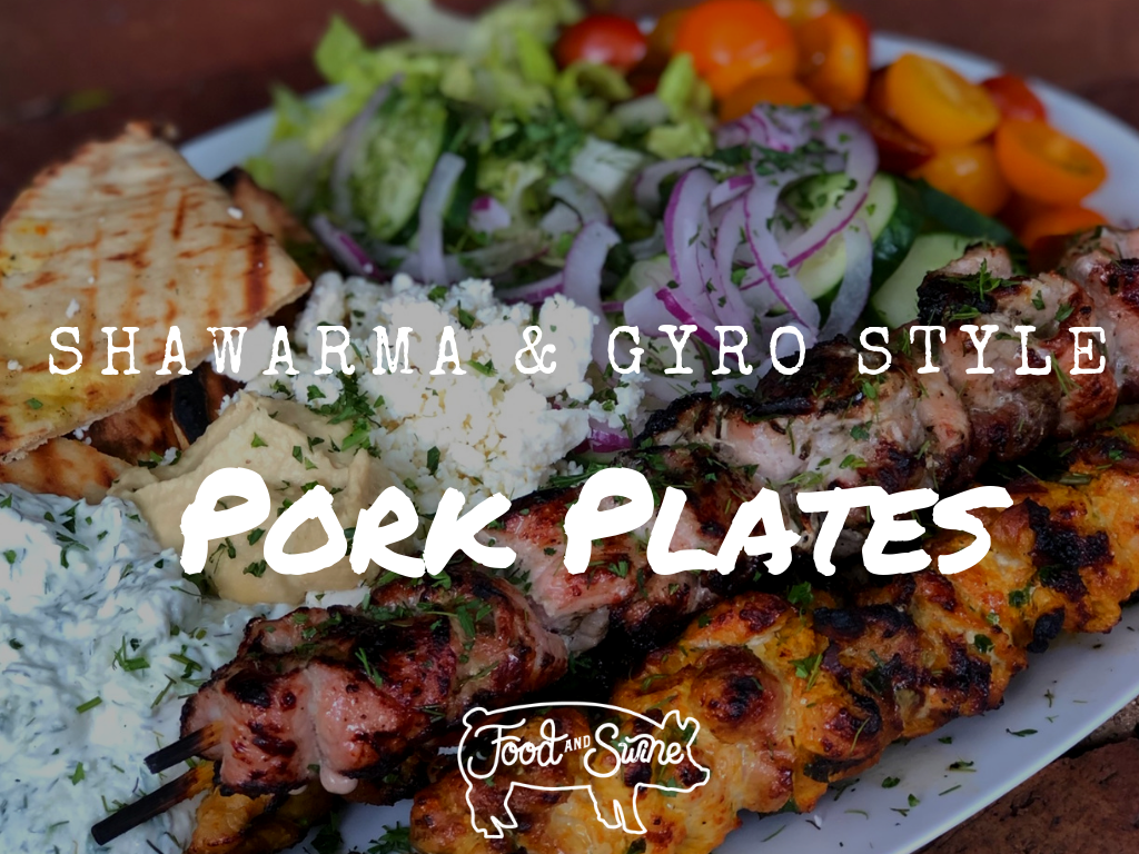 Shawarma and Gyro Style Pork Plates