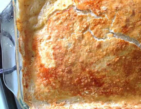 Homestyle Chicken Pot Pie with Parmesan Crust Recipe