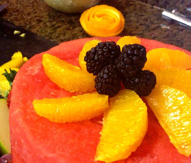 fruit cake blackberries
