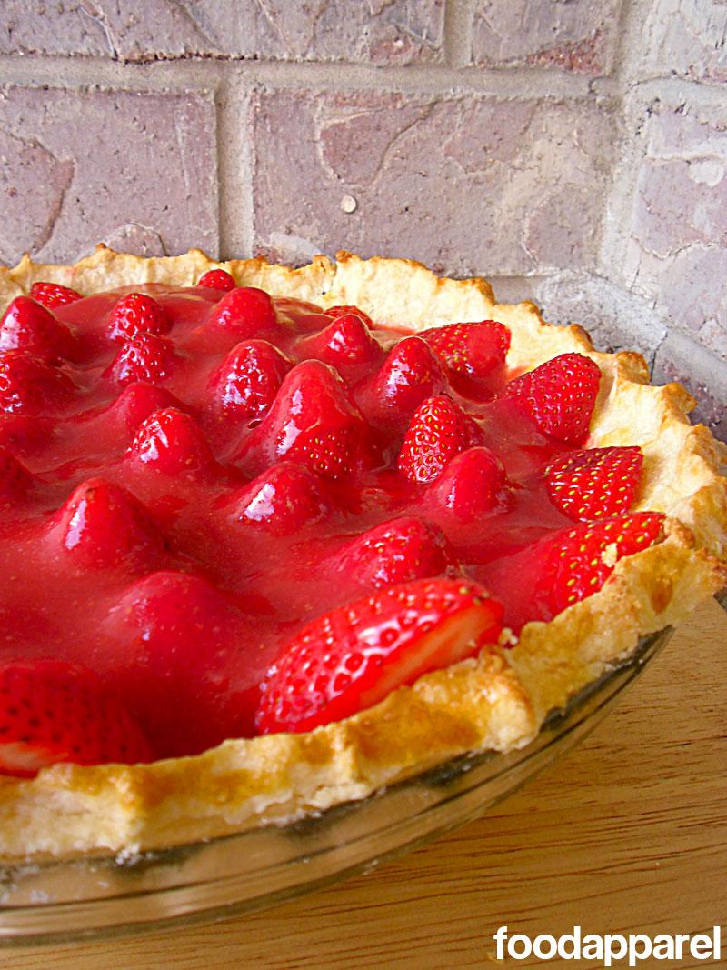 Fresh Strawberry Pie on foodapparel.com