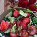 Nuts and Berries Spinach Salad at FoodApparel.com