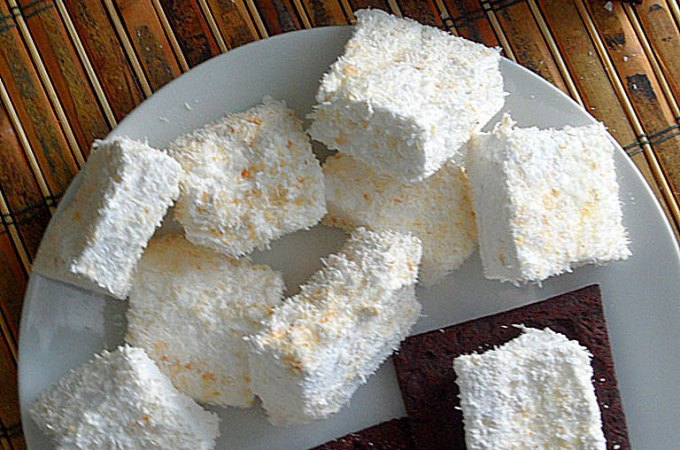 Toasted Coconut Marshmallows with Chocolate Graham Crackers Recipe