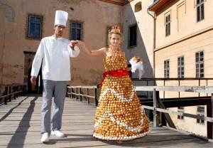cream puff dress