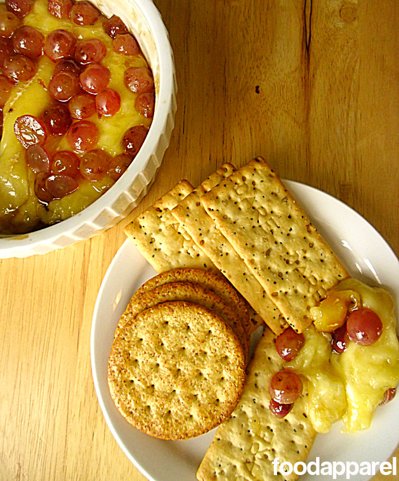 Grape and Brown Sugar Baked Brie at FoodApparel.com