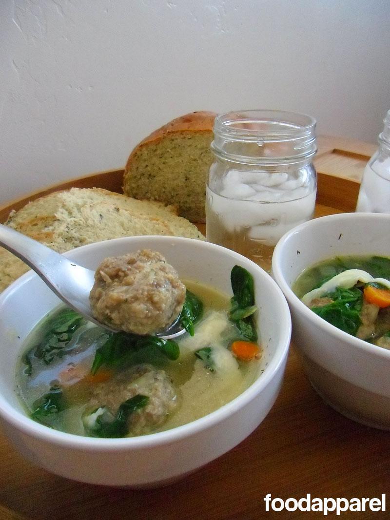 Italian wedding soup recipe food apparel - Elle suce dans la cuisine ...