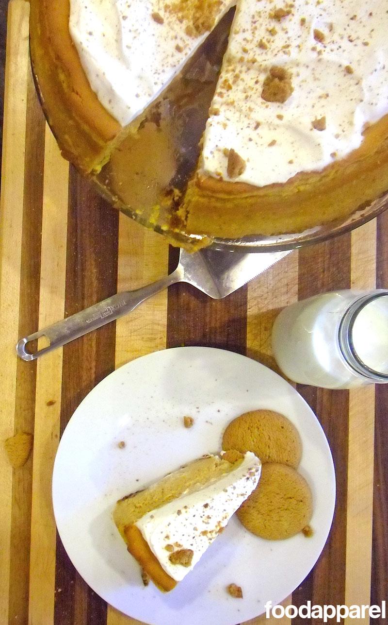 Pumpkin Cheesecake with Gingersnap Crust at FoodApparel.com