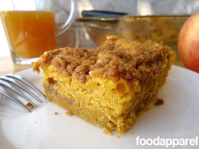 Pumpkin Cinnamon Streusel Coffee Cake Recipe Food Apparel