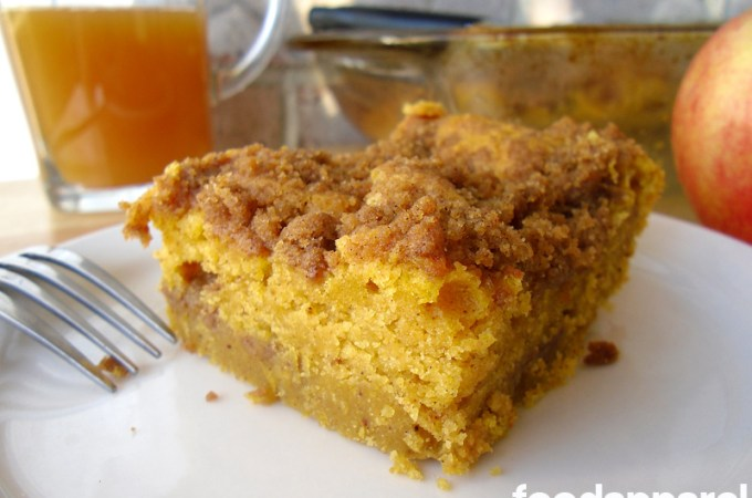 Pumpkin Cinnamon Streusel Coffee Cake Recipe