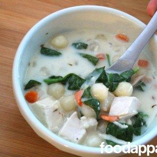 Chicken and Gnocchi Soup at FoodApparel.com