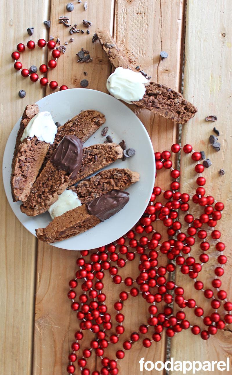 Chocolate Biscotti with Cinnamon and Cocoa Nibs at FoodApparel.com