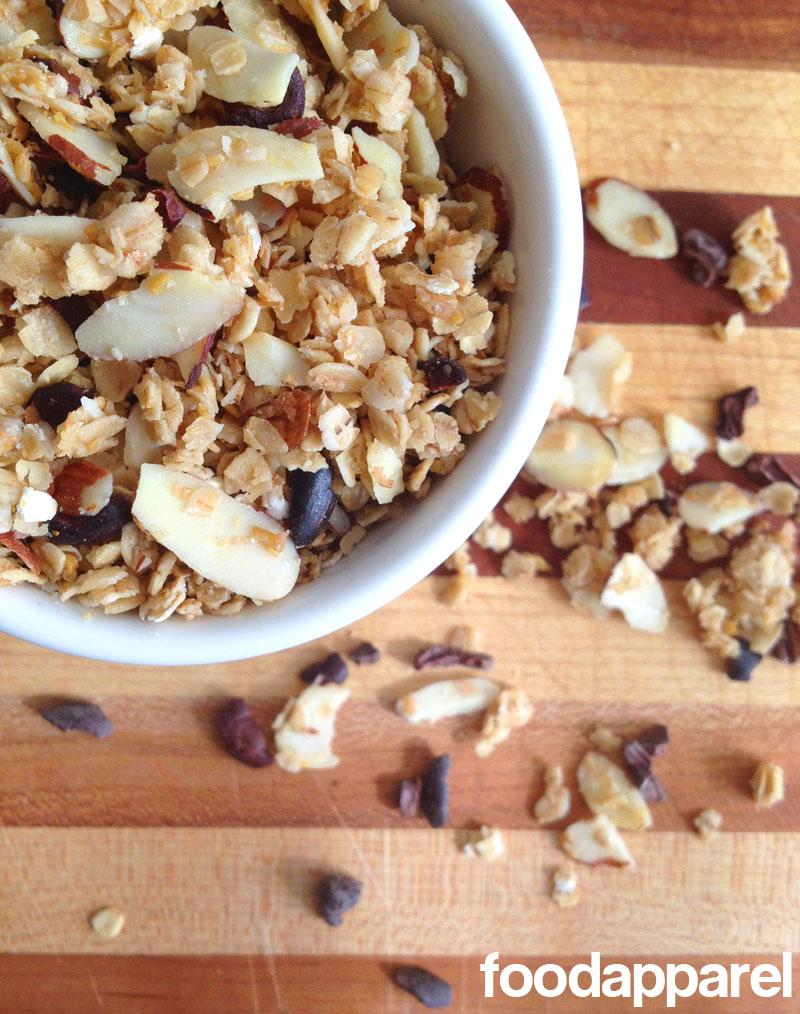 Cocoa Nib Granola at FoodApparel.com