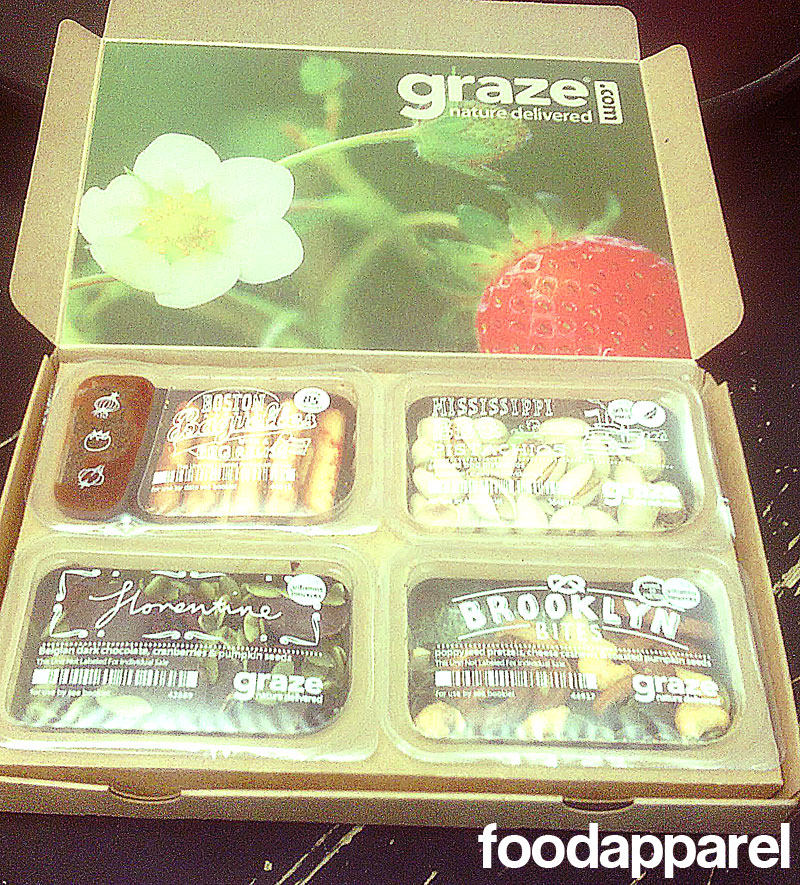 "Graze.com ""nibblebox"" review and promo code at FoodApparel.com"