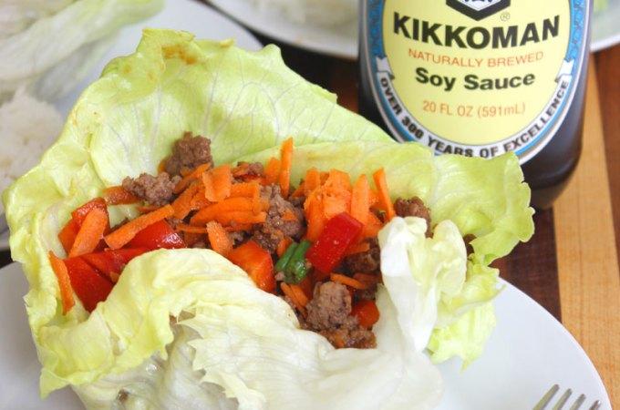 Asian Lettuce Wraps at FoodApparel.com