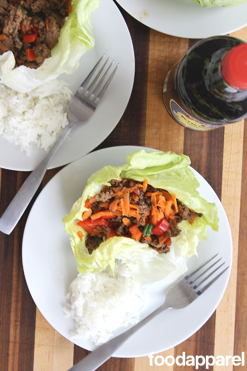 Asian Lettuce Wraps at FoodApparel.com