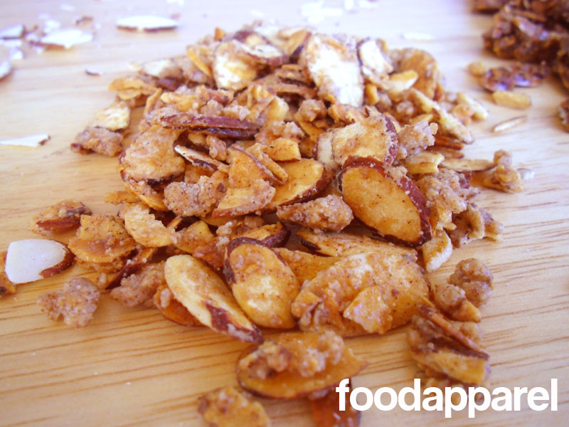 almonds and sushi quick and easy candied almond slices recipe food apparel