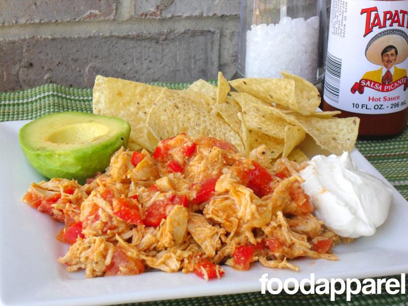Crockpot Chicken Tostadas at FoodApparel.com