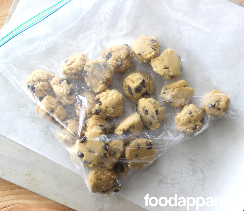 Make-Ahead Freezer Chocolate Chip Cookie Dough at FoodApparel.com