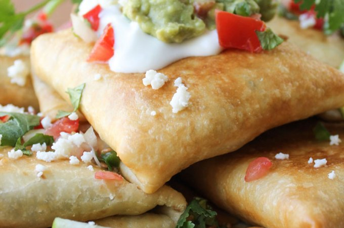 Chicken, Tomatillo, and Chipotle Chimichangas: Guest Post from The Food Charlatan