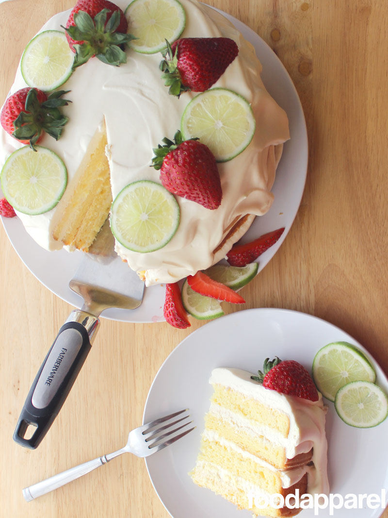 Key Lime Torte at FoodApparel.com (You'd never guess it's from a box!)