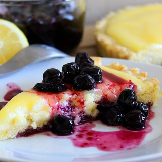 Lemon Curd Cheesecake Tart with Blueberry Topping at FoodApparel.com