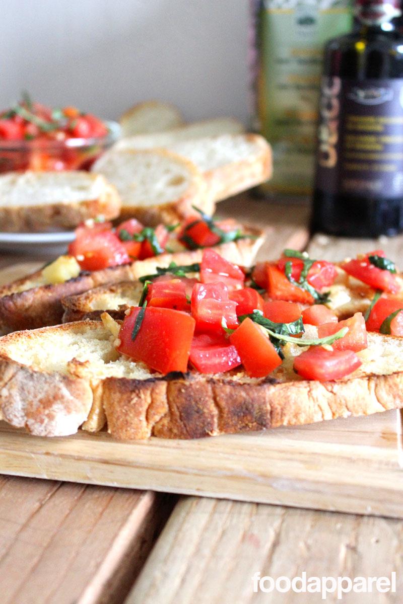 Tomato Basil Bruschetta at FoodApparel.com