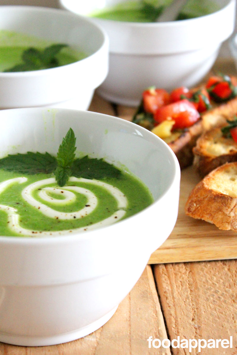 Fresh Minted Pea Soup on FoodApparel.com