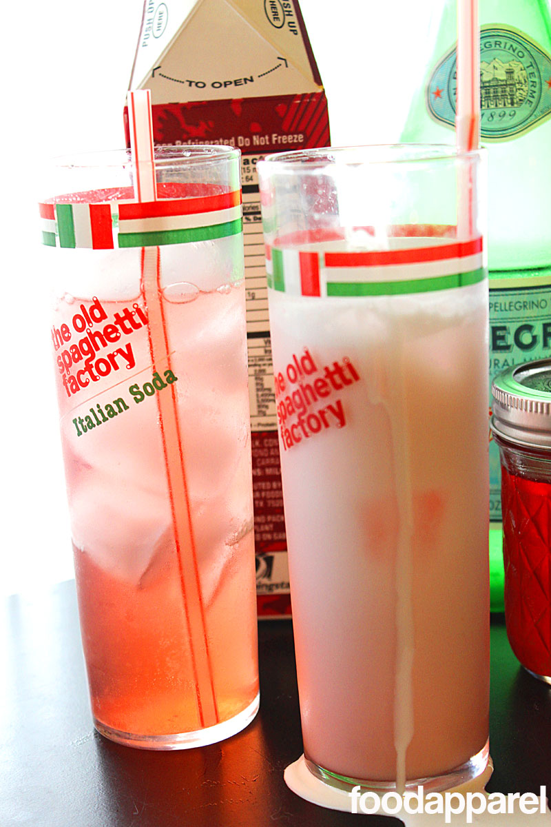 Strawberry Italian Cream Soda at FoodApparel.com