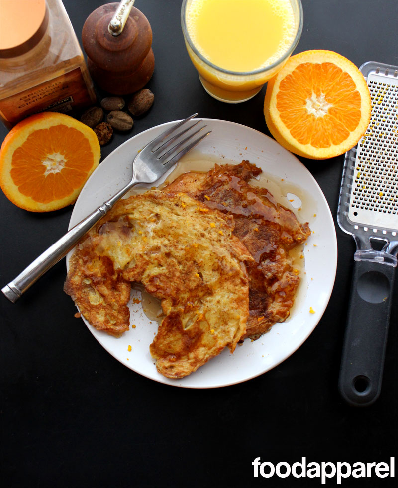 Orange Croissant French Toast - a great way to use your day old croissants! #breakfast @foodapparel
