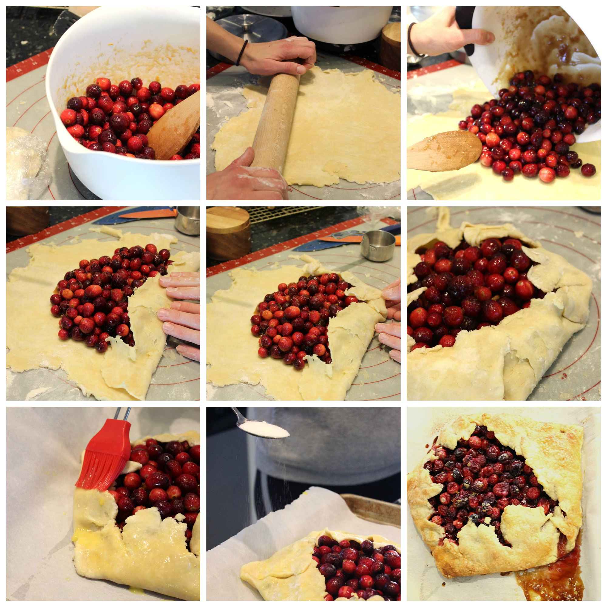 Cranberry Orange Ginger Galette Recipe - Step by Step tutorial!