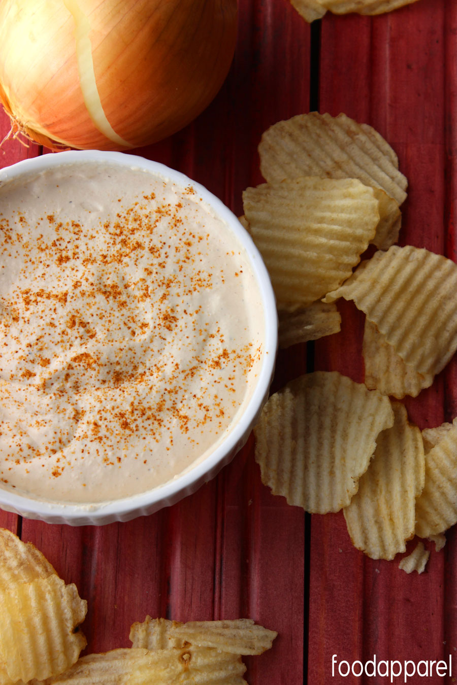 Sweet and Spicy Caramelized Onion Dip Recipe- it's amazing! @foodapparel