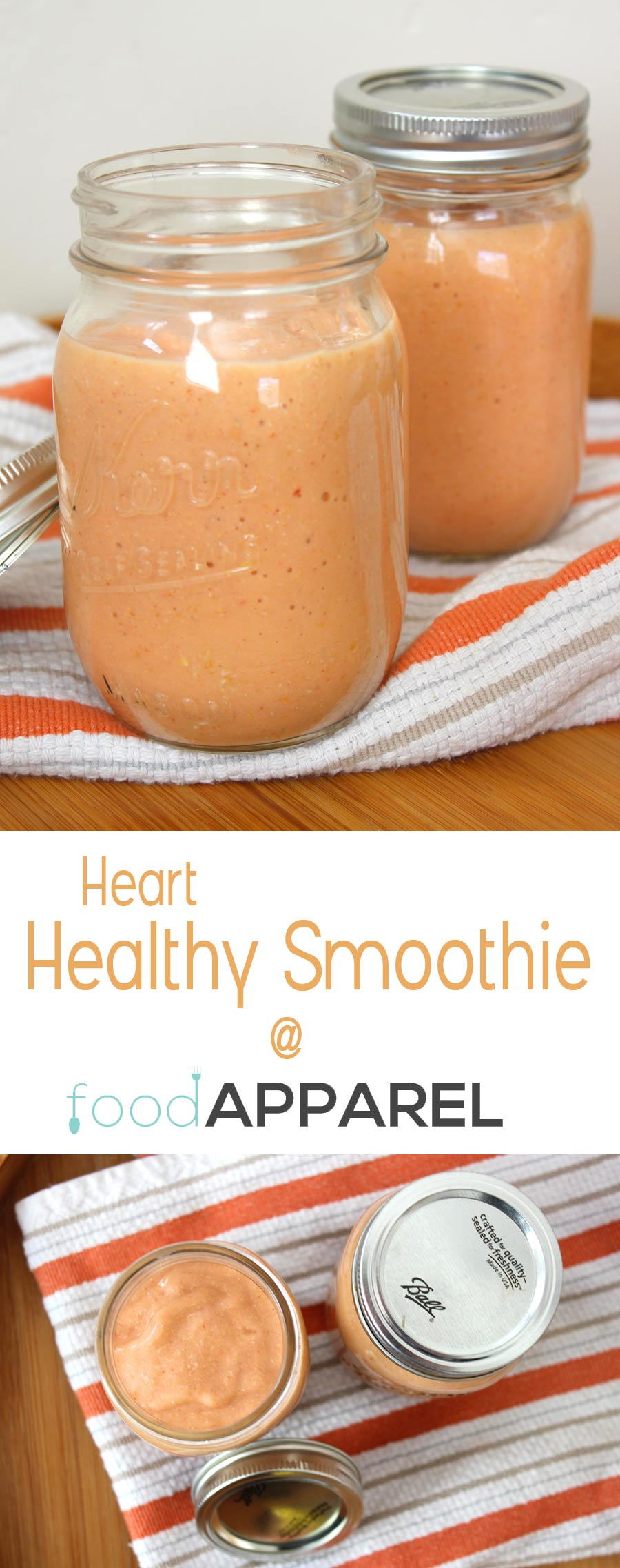 Heart Healthy Smoothie Recipe - great way to start the day! @foodapparel