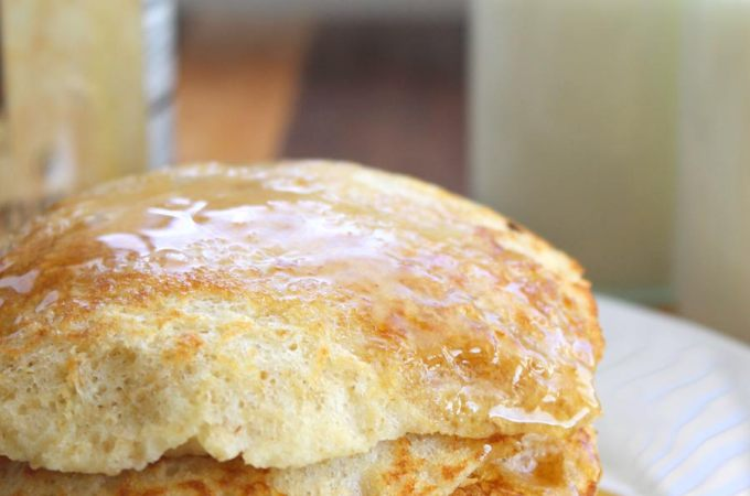 Light and Fluffy Oatmeal Pancakes Recipe