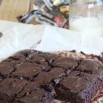 One-Pot Double Dark Chocolate Fudge Brownies - come together in 10 minutes and they are AMAZING! @foodapparel