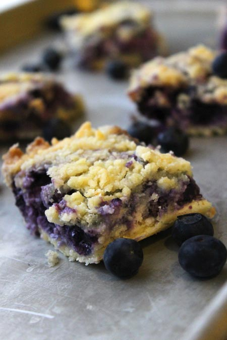 The easiest to make Blueberry Bars!