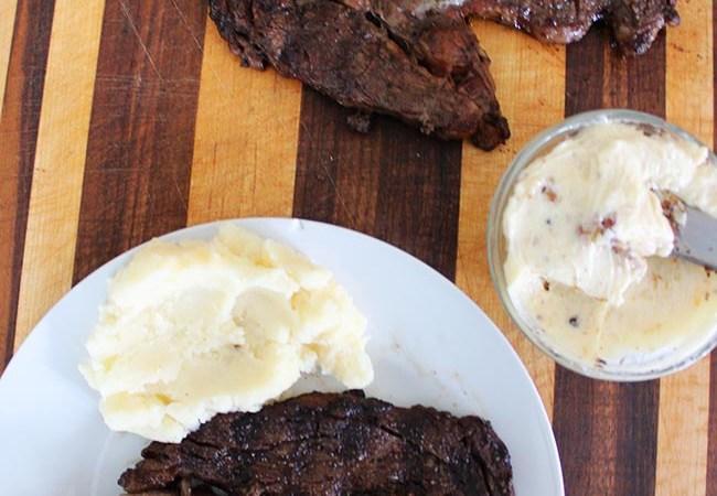 Jones Creek Beef Ribeye Steak with Garlic Truffle Butter