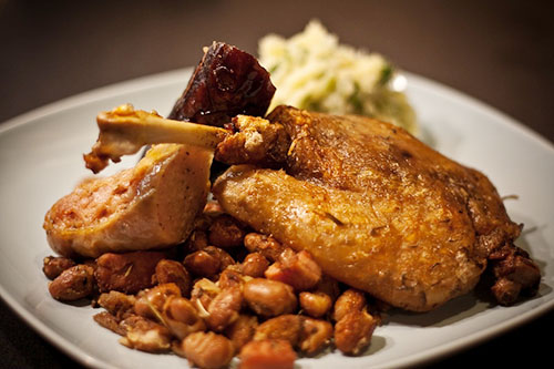 cassoulet served in plate