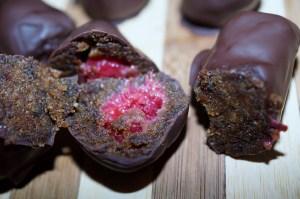 Hindbær-lakrids marcipan (1)