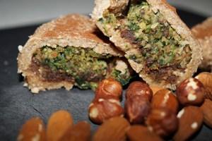 Grøn marcipan og nougathorn (1)