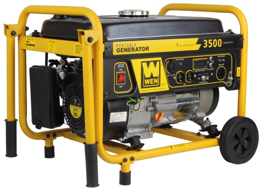 The Wen 56352 suppliers a peak load of 3500 watts with a running load of 3000 watts.