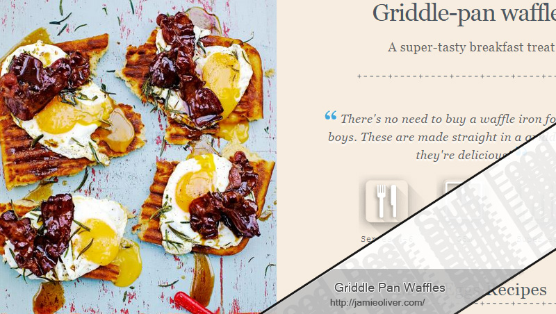 Griddle Pan Waffles recipe from www.jamieoliver.com