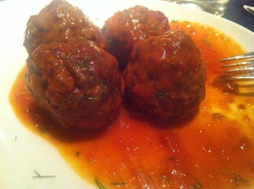 Meatballs at Ethos.