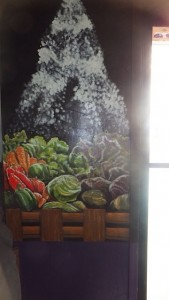 Seasoned Vegan Fruit Basket Mural