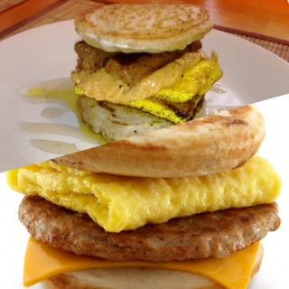 Vegan McGriddle vs Meatbased McGriddle
