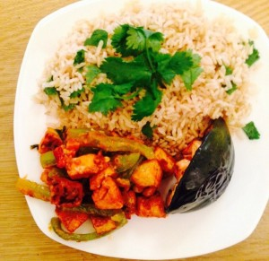 Thai Curry Tofu with Cilantro Lime Rice