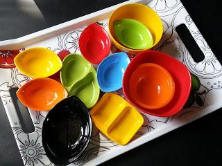 colourful melamine bowls,poppat jamal