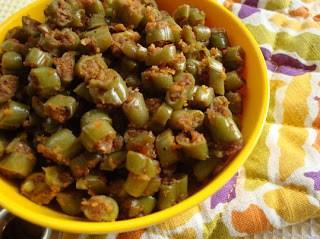 masala green beans poriyal